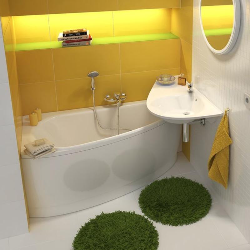 Avocado cada stg 1500x750 cazi de colt asimetrice daca for Avocado bathroom ideas