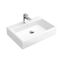 Lavoar pe blat Villeroy & Boch, Memento, dreptunghiular, 50 cm, alb, tratament CeramicPlus