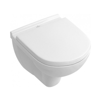 Set vas WC Villeroy & Boch, O. Novo, suspendat COMPACT, Ceramic Plus, cu capac soft close, alb