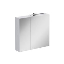 Dulap cu oglinda Opoczno, Street Fusion, cu sistem de iluminare, 60 cm, alb