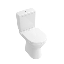Set vas WC stativ Villeroy & Boch, O.Novo, direct flush, cu rezervor si capac soft close, alb