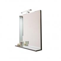 Oglinda cu polita, Kolpasan, pentru mobilier Lana, 65 cm, gri-deschis