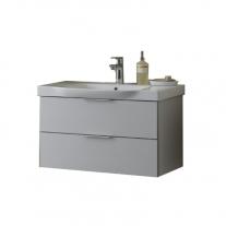 Set lavoar + mobilier Kolpasan, Lana II,80 cm, gri deschis