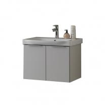 Set lavoar + mobilier Kolpasan, Lana, , 65 cm, gri deschis