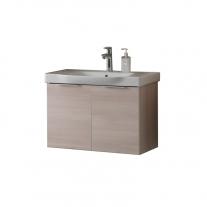 Set lavoar + mobilier cu usi Kolpasan, Lana, 65 cm, lemn deschis