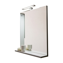 Oglinda cu polita Kolpasan, pentru mobilier Lana, 80 cm, gri-deschis