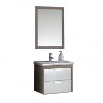 Set compus din lavoar + mobilier cu sertare + oglinda Kolpasan, Sara, 62 cm