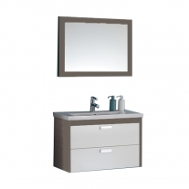 Set compus din lavoar + mobilier cu sertare + oglinda Kolpasan, Sara, 82 cm