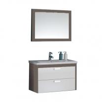 Set mobilier suspendat, lavoar si oglinda Kolpasan, Sara, 82 cm