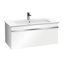 Set mobilier suspendat, un sertar, alb lucios si lavoar pentru mobilier, alb, 80 cm, Venticello