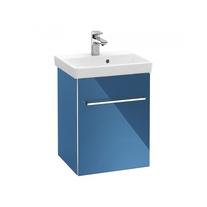 Mobilier Villeroy & Boch ,Avento, suspendat, de stanga, 42 cm, crystal blue