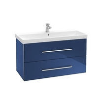 Mobilier Villeroy & Boch, Avento, suspendat, doua sertare, 97 cm, crystal blue
