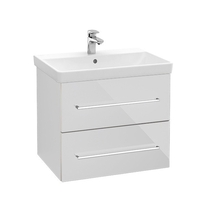 Mobilier Villeroy & Boch, Avento, suspendat, 2 sertare, 62 cm, crystal white