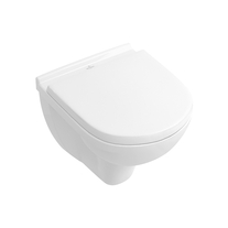 Set vas WC Villeroy & Boch, O.Novo, suspendat COMPACT, cu capac soft close, alb