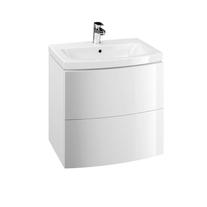 Cersanit, Easy, mobilier rotunjit cu doua sertare, 70 cm, alb