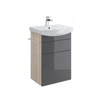 Cersanit, Smart, mobilier pentru lavoar Carina, 50 cm, gri