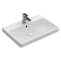 Lavoar suspendat Villeroy & Boch, Avento, dreptunghiular, 65 cm, alb alpin