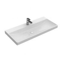 Lavoar Villeroy & Boch, Avento, dreptunghiular, 100 cm, alb alpin