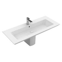 Lavoar suspendat Villeroy & Boch, Legato, 100 cm, dreptunghiular, alb alpin,