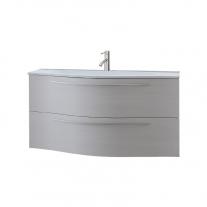 Kolpasan, Nayra, set mobiier cu sertare, alb mat + lavoar 100 cm, alb