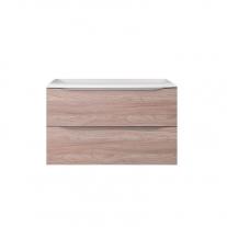 Set lavoar + mobilier cu sertare Kolpasan, Tara, 71 cm, stejar satin