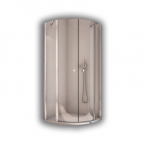 Cabina de dus semirotunda, profil lucios, 80 x 200 cm, Solino