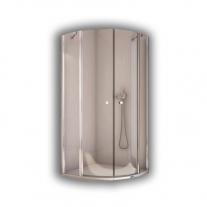 Cabina de dus semirotunda, profil lucios, 100 x 200 cm, Solino