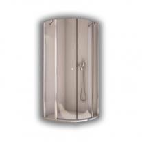 Cabina de dus semirotunda, profil lucios, 90 x 200 cm, Solino