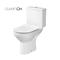 Set vas WC stativ Cersanit, City New, Rimless, cu rezervor si capac Soft-Close inclus