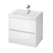 Mobilier suspendat Cersanit, Crea, cu doua sertare, 60 cm, alb