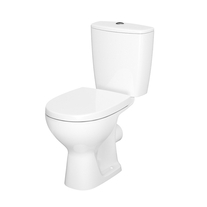 Set vas WC stativ Cersanit, Arteco New,  Rimless, cu rezervor si capac Soft-Close si Easy Off inclus