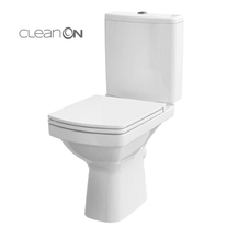 Set vas WC Cersanit, Easy New, stativ, Rimless cu rezervor si capac Soft-Close si Easy Off inclus