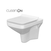 Cersanit, Como New, set vas WC suspendat, Rimless cu capac Soft-Close si Easy Off, slim