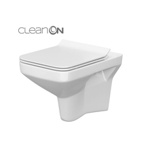 Set vas WC Cersanit, Como New, suspendat, Rimless cu capac Soft-Close si Easy Off, slim