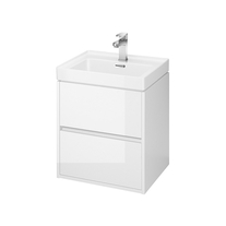 Mobilier suspendat Cersanit, Crea, cu doua sertare, 50 cm, alb