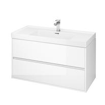Mobilier suspendat Cersanit, Crea, cu doua sertare, 100 cm, alb