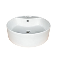 Lavoar pe blat Fluminia, Ibiza Grande New, alb, 46.5 x 46.5 cm