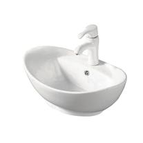 Lavoar pe blat Fluminia, Loira New, alb, 59 x 39 cm