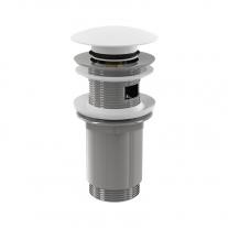 Alcaplast, ventil click clack pentru lavoar cu preaplin, cu dop mare, alb