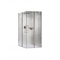 Novellini, Young 2.0 A, parte laterala pentru cabina de dus cu intrare pe colt de 90 cm, cu usa pivotanta si parte fixa de 43 cm
