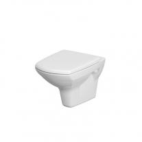 Set vas WC suspendat Cersanit, Carina, Clean On, cu capac duroplast, alb