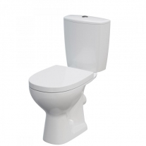 Set vas wc stativ Cersanit, Arteco New, cu Clean On, rezervor si capac Soft Close inclus,