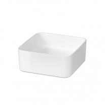Lavoar Cersanit, Crea, patrat pe blat, 35 cm, alb