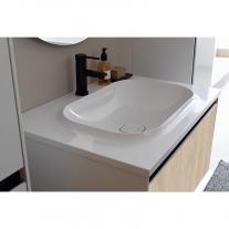 Set mobilier + lavoar Kolpasan, Pandora, 75 cm, lemn natur