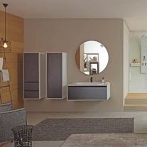 Dulap inalt suspendat Kolpasan, Pandora, 130cm, black stone