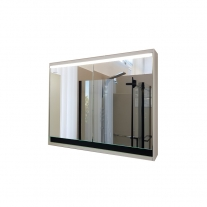 Oglinda cu dulap Kolpasan, Pandora, 75cm, iluminare led, alb