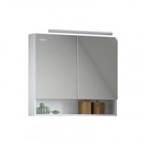 Oglinda cu dulap Kolpasan, Evelin, 80x14x70cm, alb