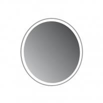 Oglinda rotunda Fluminia, Cleo, cu led , 60 cm, gri