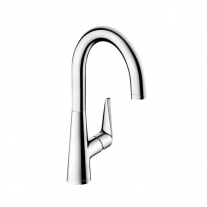 Baterie bucatarie Hansgrohe, Talis S, cu pipa mobila, crom