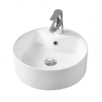 Lavoar pe blat Fluminia, Ibiza New,  alb, 40.5 x 40.5 cm